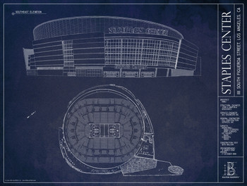Staples center blueprint poster the stadium shoppe staples center blueprint poster image 1 malvernweather Choice Image