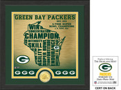 "Green Bay Packers ""State"" Bronze Coin Photo Mint"