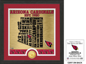 "Arizona Cardinals ""State"" Bronze Coin Photo Mint"