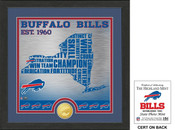 "Buffalo Bills ""State"" Bronze Coin Photo Mint"
