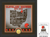 "Cleveland Browns ""State"" Bronze Coin Photo Mint"