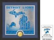 "Detroit Lions ""State"" Bronze Coin Photo Mint"
