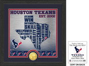 "Houston Texans ""State"" Bronze Coin Photo Mint"
