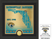 "Jacksonville Jaguars ""State"" Bronze Coin Photo Mint"