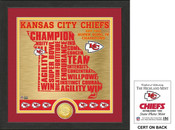 "Kansas City Chiefs ""State"" Bronze Coin Photo Mint"