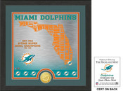 "Miami Dolphins ""State"" Bronze Coin Photo Mint"