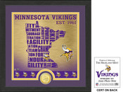 "Minnesota Vikings ""State"" Bronze Coin Photo Mint"