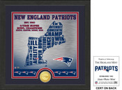 "New England Patriots ""State"" Bronze Coin Photo Mint"