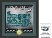 "Philadelphia Eagles ""State"" Bronze Coin Photo Mint"