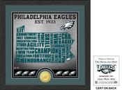 "Philadelphia Eagles ""State"" Bronze Coin Photo Mint"
