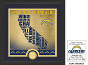 "San Diego Chargers ""State"" Bronze Coin Photo Mint"