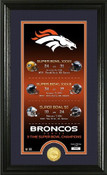 "Denver Broncos ""Legacy"" Bronze Coin Photo Mint"