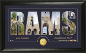 "Los Angeles Rams ""Word Art"" Panoramic Bronze Coin Photo Mint"