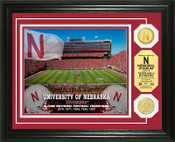 Nebraska Cornhuskers - Memorial Stadium Bronze Coin Photo Mint
