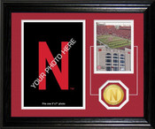 "Nebraska Cornhuskers ""Fan Memories"" Bronze Coin Desk Top Photo Mint"