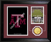 "Texas A&M Aggies ""Fan Memories"" Bronze Coin Desk Top Photo Mint"