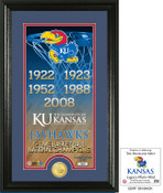 "Kansas Basketball ""Legacy"" Bronze Coin Photo Mint"