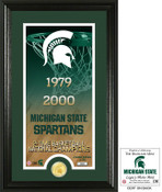 "Michigan State Spartans Basketball ""Legacy"" Bronze Coin Photo Mint"