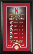"Nebraska Cornhuskers ""Legacy"" Bronze Coin Photo Mint"