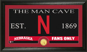 "Nebraska Cornhuskers ""Man Cave"" Panoramic Bronze Coin Photo Mint"
