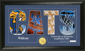 "Kentucky Basketball ""Silhouette"" Panoramic Bronze Coin Photo Mint"