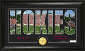 "Virginia Tech Hokies ""Silhouette"" Panoramic Bronze Coin Photo Mint"