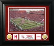 Nebraska Cornhuskers Special Edition Gold Coin Photo Mint