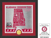 "Alabama Crimson Tide ""State"" Bronze Coin Photo Mint"
