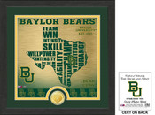 "Baylor Bears ""State"" Bronze Coin Photo Mint"