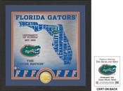 "Florida Gator ""State"" Bronze Coin Photo Mint"