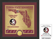 "Florida State Seminoles ""State"" Bronze Coin Photo Mint"