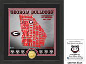 "Georgia Bulldogs ""State"" Bronze Coin Photo Mint"