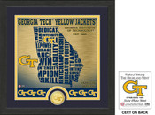 "Georgia Tech Yellow Jackets ""State"" Bronze Coin Photo Mint"