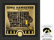 "Iowa Hawkeyes ""State"" Bronze Coin Photo Mint"