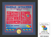 "Kansas Jayhawks ""State"" Bronze Coin Photo Mint"