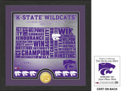 "Kansas State Wildcats ""State"" Bronze Coin Photo Mint"