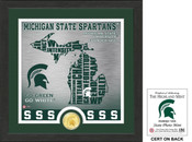 "Michigan State Spartans ""State"" Bronze Coin Photo Mint"