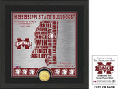 "Mississippi State Bulldogs ""State"" Bronze Coin Photo Mint"