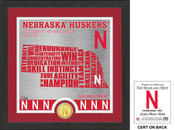 "Nebraska Cornhuskers ""State"" Bronze Coin Photo Mint"