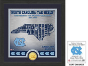 "North Carolina Tar Heels ""State"" Bronze Coin Photo Mint"