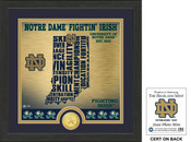 "Notre Dame Fighting Irish ""State"" Bronze Coin Photo Mint"