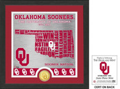 "Oklahoma Sooners ""State"" Bronze Coin Photo Mint"