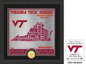 "Virginia Tech Hokies ""State"" Bronze Coin Photo Mint"