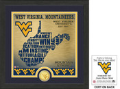 "West Virginia Mountaineers ""State"" Bronze Coin Photo Mint"