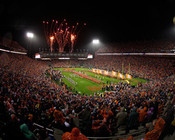 "Clemson Tigers ""Night Game"" Memorial Stadium Photo"