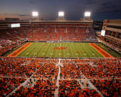 "Oklahoma State Cowboys ""50 Yard Line"" at Boone Pickens Stadium Photo"