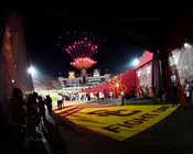 "USC Trojans ""Fireworks"" Los Angeles Coliseum  Photo"
