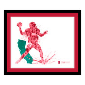 Stanford Cardinal Silhouette Art