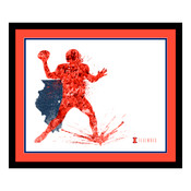 Illinois Fighting Illini Silhouette Art
