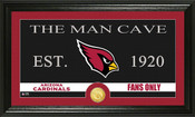 "Arizona Cardinals ""Man Cave"" Bronze Coin Panoramic Photo Mint"